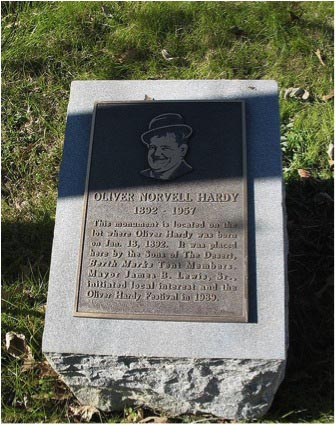 Oliver Hardy Birthplace Marker, Harlem Georgia