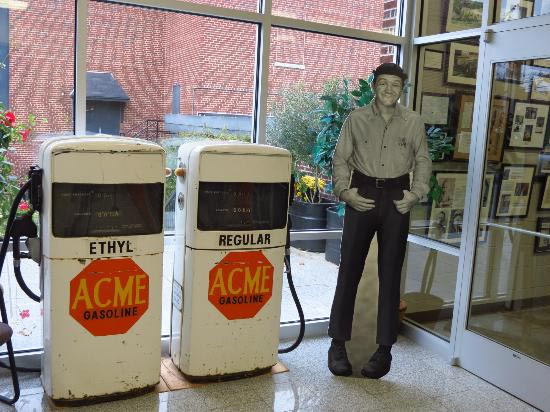 Andy Griffith Museum in Mount Airy North Carolina Goober and Gas Station Display